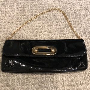 Hobo clutch with gold chain